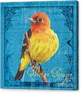 Colorful Songbirds 4 Canvas Print