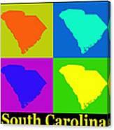 Colorful South Carolina Pop Art Map Canvas Print