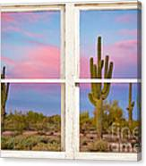 Colorful Southwest Desert Window Art View Canvas Print
