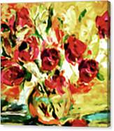 Colorful Spring Bouquet - Abstract  Canvas Print