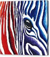 Colorful Stripes Original Zebra Painting By Madart Canvas Print