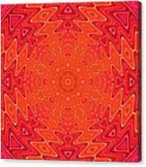 Colorful Sun Mandala Canvas Print