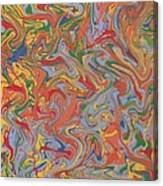 Colorful Swirls Drip Painting Canvas Print