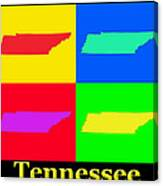 Colorful Tennessee Pop Art Map Canvas Print