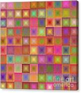 Colorful Textured Squares Canvas Print