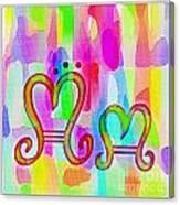 Colorful Texturized Alphabet Mm Canvas Print