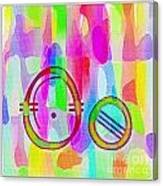 Colorful Texturized Alphabet Oo Canvas Print
