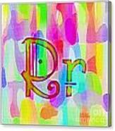 Colorful Texturized Alphabet Rr Canvas Print