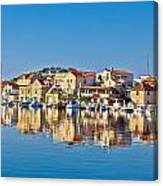 Colorful Town Of Tribunj Waterfront Canvas Print
