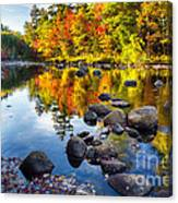Colorful Trees Along The Swift River Canvas Print
