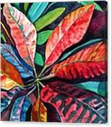 Colorful Tropical Leaves 2 Canvas Print