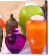 Colorful Vases I - Still Life Canvas Print