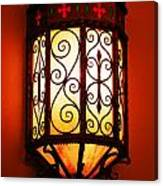 Colorful Vibrant Red Green Gothic Sconce Light Canvas Print