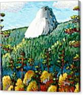 Colorful View Of Idyllwild California Canvas Print