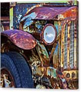 Colorful Vintage Car Canvas Print