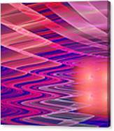 Colorful Waves Abstract Fractal Art Canvas Print