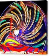 Colorful Wheel Of Lights Canvas Print