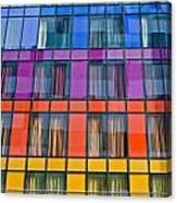 Colorful Windows On Modern Apartment Block Canvas Print