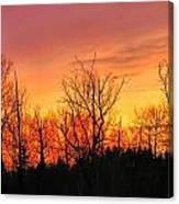 Colorful Winter Sunset Canvas Print