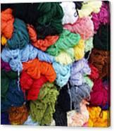 Colorful Yarn Otavalo Market Ecuador Canvas Print