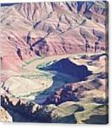 Colorodo River Flowing Through The Grand Canyon Canvas Print