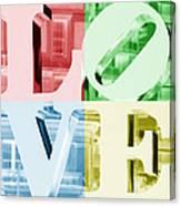 Colors Of Love Philadelphia Pa Canvas Print