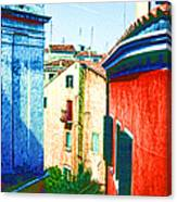 Colors Of My Village Canvas Print
