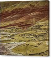 Colors Of Painted Hills Canvas Print