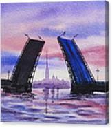 Colors Of Russia Bridges Of Saint Petersburg Canvas Print