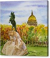 Colors Of Russia Monuments Of Saint Petersburg Canvas Print