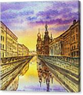 Colors Of Russia St Petersburg Cathedral I Canvas Print