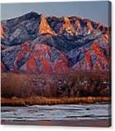 214501-colors Of Sandia Crest  Canvas Print