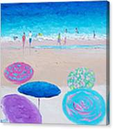 Colors Of Summer Beach Painting Canvas Print