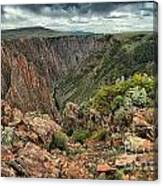 Colors Of The Black Canyon Canvas Print