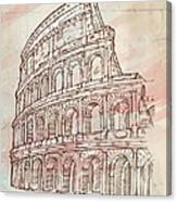 Colosseum Hand Draw Canvas Print