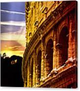 Colosseum Sunset Canvas Print