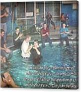 Colossians 2 12 Canvas Print