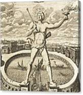 Colossus Of Rhodes, 17th-century Artwork Canvas Print