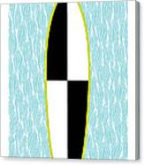 Colour Block Surfboard Canvas Print