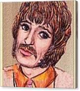 Coloured Pencil Portrait Canvas Print