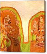 Coloured Reliefs Canvas Print