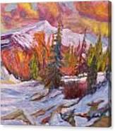 Coloured Winter Canvas Print