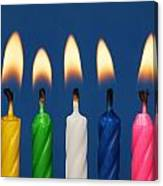 Colourful Candles Lit Canvas Print