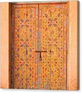 Colourful Entrance Door Sale Rabat Morocco Canvas Print