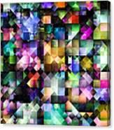 Colourful Fractal Jewels Canvas Print