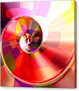 Colourful Tiled Spiral Canvas Print