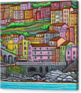Colours Of Manarola Canvas Print