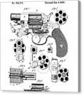 Colt Revolver Patent Art 3  -  1881  Canvas Print
