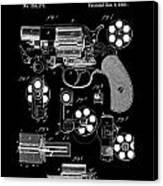 Colt Revolver Patent Art 2  -  1881 Canvas Print