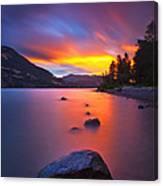 Columbia Morning Fire Canvas Print